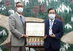 コロナ対策用支援物資として、愛知県に除菌スプレー1万6千個を寄贈